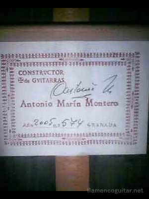 アントニオ・マリン・モンテロ 2005 ラベル