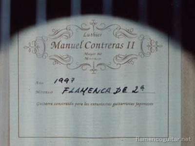 マヌエル・コントレーラスⅡ1997 ラベル