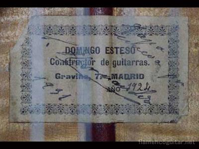 ドミンゴ・エステソ 1924 ラベル