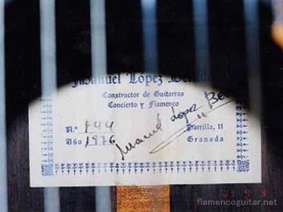 マヌエル・ロペス・べジード 1976 ラベル
